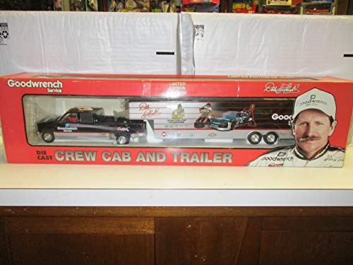 Brookfield Collectors Guild - 2002 #8 Dale Earnhardt Jr. Budweiser Show Trailer Collection - Incentive - Chevrolet Dually Crew Cab and Show Trailer Replica 102267
