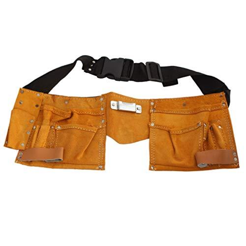 1 Stück Werkzeuggürtel 11 Taschen Echt Leder