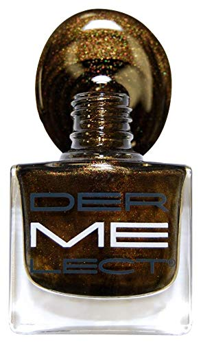 Dermelect Dermelect me nail lacquers - decadence (metallic espresso with green undertone), 0.4oz, 0.4 Ounce