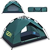 Camping Tent & Shelters,Instant Pop Up 2 Person Tents for Camping Portable Cabana Beach Automatic Tent Ultralight Easy Set Up and Carry Tents with Screen Door for Camping,Backpacking,Hiking,Outdoors
