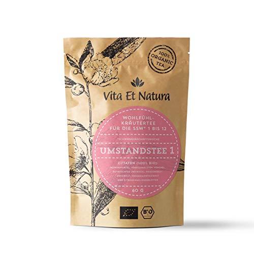 Vita Et Natura BIO Umstandstee 1 - Schwangerschaftstee für die 1. bis 12. SSW - 100% biologisch & naturbelassen - 60g loser Wohlfühl-Kräutertee