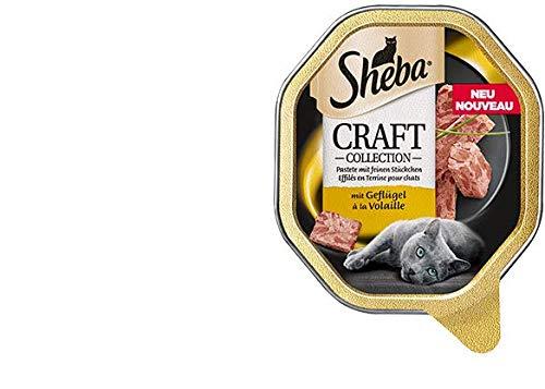 Sheba Craft feine Pastete mit Geflügel | 22 x 85g Katzenfutter nass