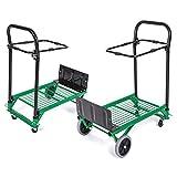 Vagón De Jardín Home Garden Dobling Trolley Utility Wagon Trolley Trolley Carro De La Tienda De Comestibles Trolley Portátil 4 Ruedas Carretilla Elevadora PortátilPara Jardín
