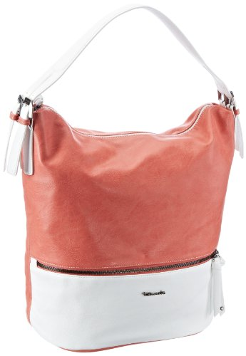 Tamaris Wendy Satchel A-1-100-65-302, Damen Schultertaschen, Rot (light red 653), 30x37x20 cm (B x H x T)