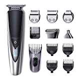 HATTEKER Cordless 5 in 1 Mens Beard Trimmer Grooming kit Hair Trimmer Mustache