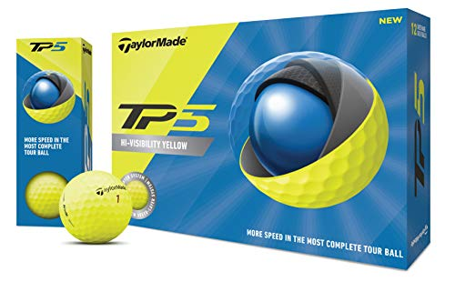 TaylorMade Unisex TM20 TP5 Gelber dzn Golfball, Einheitsgröße
