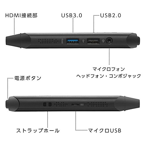 『ASUS スティック型 デスクトップ VivoStick (Atom x5-Z8350/2GB・SSD 32GB/Windows 10 Home/ブラック)【日本正規代理店品】 TS10-B016D』の3枚目の画像