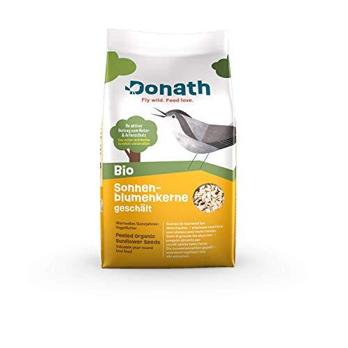 Donath BIO Sonnenblumenkerne geschält - 1kg - schalenfrei und reich an Vitaminen und Proteinen - wertvolles Ganzjahres Wildvogelfutter - aus unserer Manufaktur in Süddeutschland