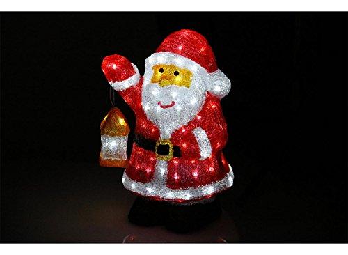 Père Noël lumineux 45cm 120 leds