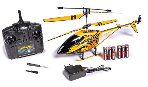 Carson 500507139 500507139-Easy Tyrann Hornet 350 2.4GHz RTF, Ferngesteuerter Hubschrauber, Modell, RC Helikopter, inkl. Batterien und Fernsteuerung, 100{68b540d8adcda70a71b9bdd2184cf0ee635e5374a8500cf531880dad800ef3bd} flugfertig, gelb