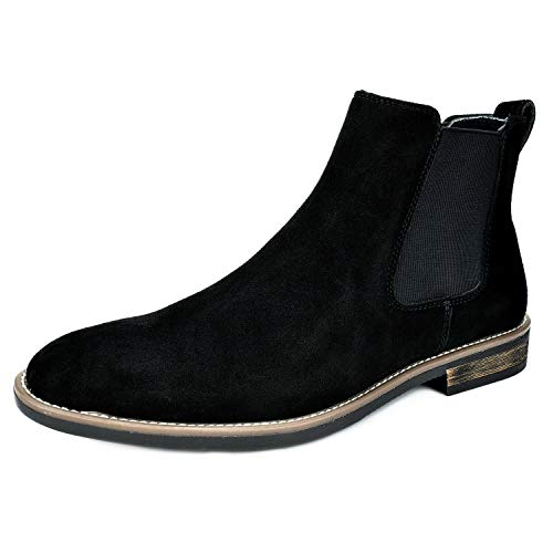 Bruno Marc Men's Urban-06 Black Suede Leather Chukka Ankle Boots – 15 M US