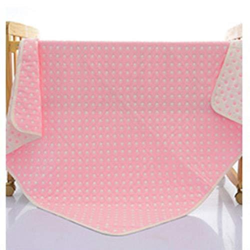 HETUI Edredones de algodón súper Suaves de 6 Capas Manta para bebé Multiuso 110cmx110cm Lunares Rosa