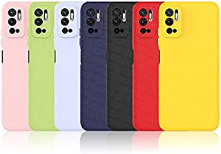 جراب Realme مصنوع من السيليكون المقاوم للصدمات جراب هاتف ناعم ونحيف ومرن (C25، وردي)