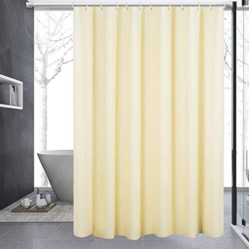 Nakeey Duschvorhang Anti-Schimmel 180x200 cm, Waschbar Badvorhänge aus PEVA, Wasserdicht Anti-Bakteriell Shower Curtains für Badewanne & Dusche in Badezimmer mit 12 Duschvorhangringe, Beige
