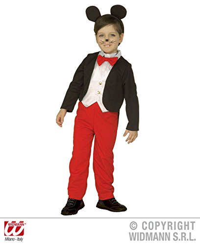 Costume Topino Topolino - Bambino - Taglia: 110 cm (3-4 Anni)