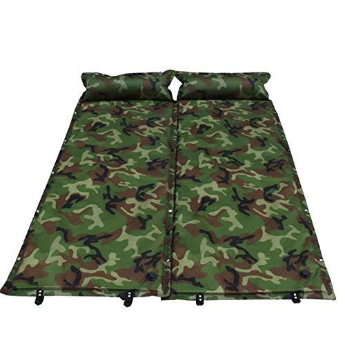 Yinglihua Camping Air Bed Waterdicht Opvouwbaar 2 Persoon Zelfopblaasbare Borduurwerk Outdoor Opblaasbare Schuim Slaapkussen Luchtmatras Met Kussen Compact Ideaal Voor Camping Stranden