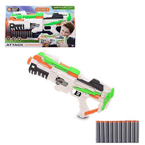 Tack Pro Attack I Blaster inklusive 10 Darts Spielzeugblaster mit 10er Trommelmagazin