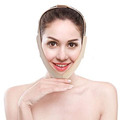 Facial Adelgazante Vendajes Máscara de Adelgazar cara Antiarrugas Papada Reductor Piel Reafirmante cuidado facial (M)