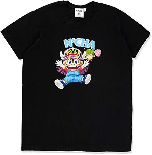 ABYstyle - Camiseta de Manga Corta para Hombre (Talla XL), diseño de Arale y Gacchan, Color Negro