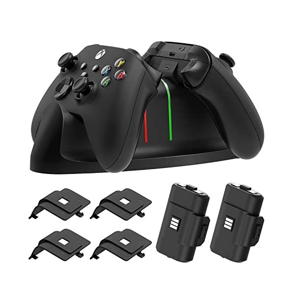 Charger Stand for Xbox Series X/S, Xbox-one/S/X/Elite Controller,MENEEA Fast Dual...