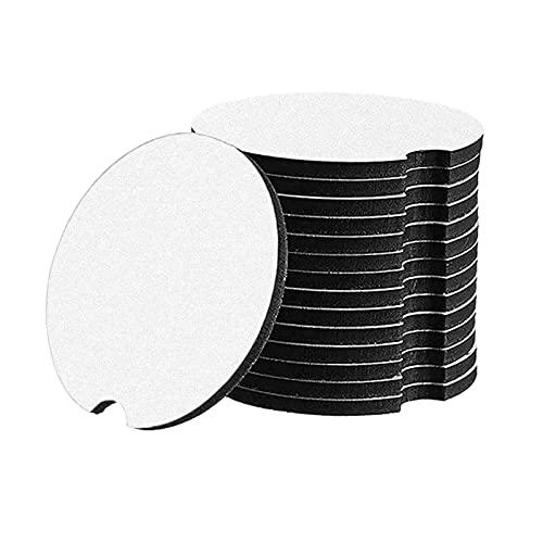 sharprepublic 20pcs Sublimation Blanks Copa de Coche Posapress 7x7cm para Accesorios Presión de Calor
