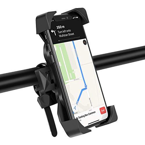 """Eono by Amazon - Soporte Movil Bicicleta, Soporte Universal Manillar para Bicicleta de montaña y Motocicleta, con Rotación 360°, Compatible con iPhone, Samsung, Huawei, y 4.0""""-6.5"""" Moviles, Negro"""