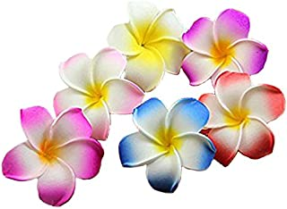 Calcifer 30pcs 1.97''Hawaii Hawaiian Plumeria Flower Clips Bridal Wedding Party Beach Hair Clips