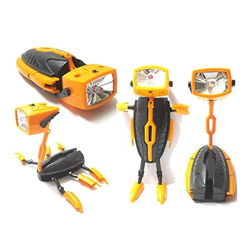 ShangSky Linterna LED Mini Shape-Shifting Robot Linterna plegable a prueba de agua Multifuncional Led Robot Juguete para niños Camping Senderismo Backpacking Pesca