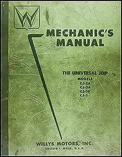 1946-1955 Willys Jeep CJ Repair Shop Manual Original CJ-2A CJ-3A CJ-3B CJ-5