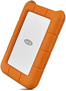 LaCie Rugged USB-C 2TB External Hard Drive Portable HDD – USB 3.0 compatible, Drop Shock Dust Rain Resistant, for Mac and PC Computer Desktop Workstation Laptop, 1 Month Adobe CC (STFR2000800)