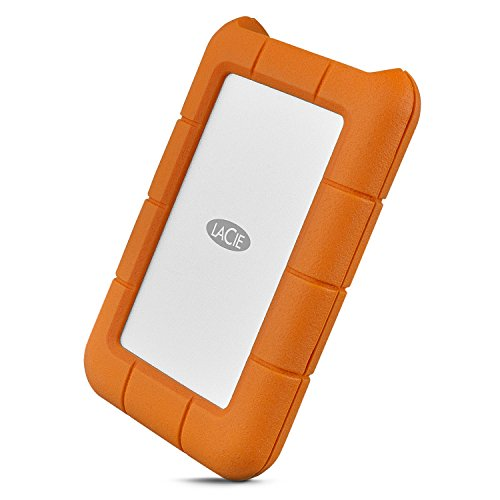 LaCie Rugged USB-C 1TB External Hard Drive Portable HDD USB 3.0 – Drop Shock Dust Rain Resistant Shuttle Drive, for Mac and PC Computer Desktop Workstation Laptop, 1 Month Adobe CC (STFR1000800)