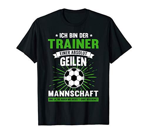 Herren Fussball Trainer Lustiges Fussballclub Coach Geschenk T-Shirt