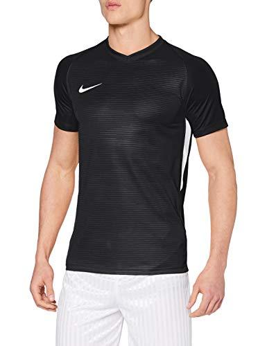 NIKE M NK Dry Tiempo Prem JSY SS T-Shirt, Hombre, Black/Black/White/White, M