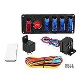 CLEIO 6 en 1 Racing Car Auto Ignition Motor Botón de inicio Interruptor del interruptor Kit 12V Accesorios para automóviles