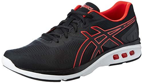ASICS Gel-Promesa Hommes Running Trainers T842N Sneakers Chaussures (UK 8.5 US 9.5 EU 43.6, Black Red Alert 001)