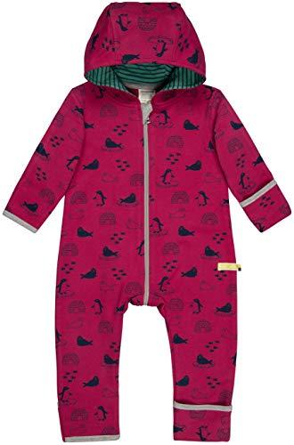 loud + proud Baby-Unisex Overall Druck Aus Bio Baumwolle, GOTS Zertifiziert Strampler, Rosa (Berry Ber), 80 (Herstellergröße: 74/80)