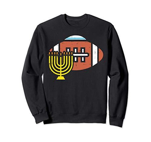 American Football Menorah Hanukkah Chanukah Sports Jew Gift Sweatshirt
