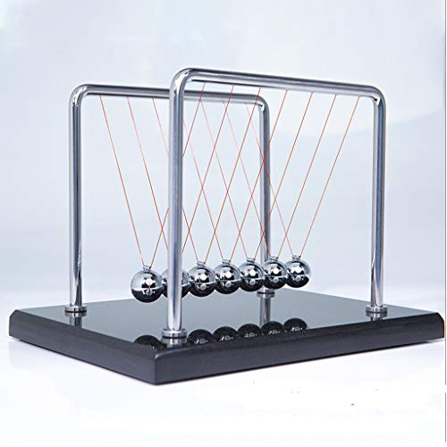 ZLBYB Base de la Bola de Equilibrio de la Cuna de Newton Base física de la Ciencia del péndulo Ciencia psicología del Rompecabezas Juguete de Newton Bola giratoria de Newton for Sala de Estar Sala de