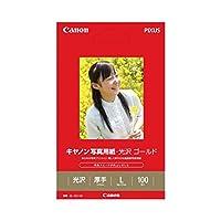 (まとめ) キャノン Canon 写真用紙・光沢 ゴールド 印画紙タイプ GL-101L100 L判 2310B001 1冊(100枚) 〔×5セット〕
