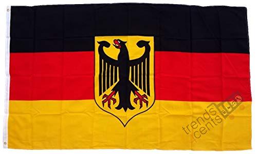 Flagge Fahne ca. 90x150 cm : Deutschland Dienstflagge Adler deutsche Dienstfahne