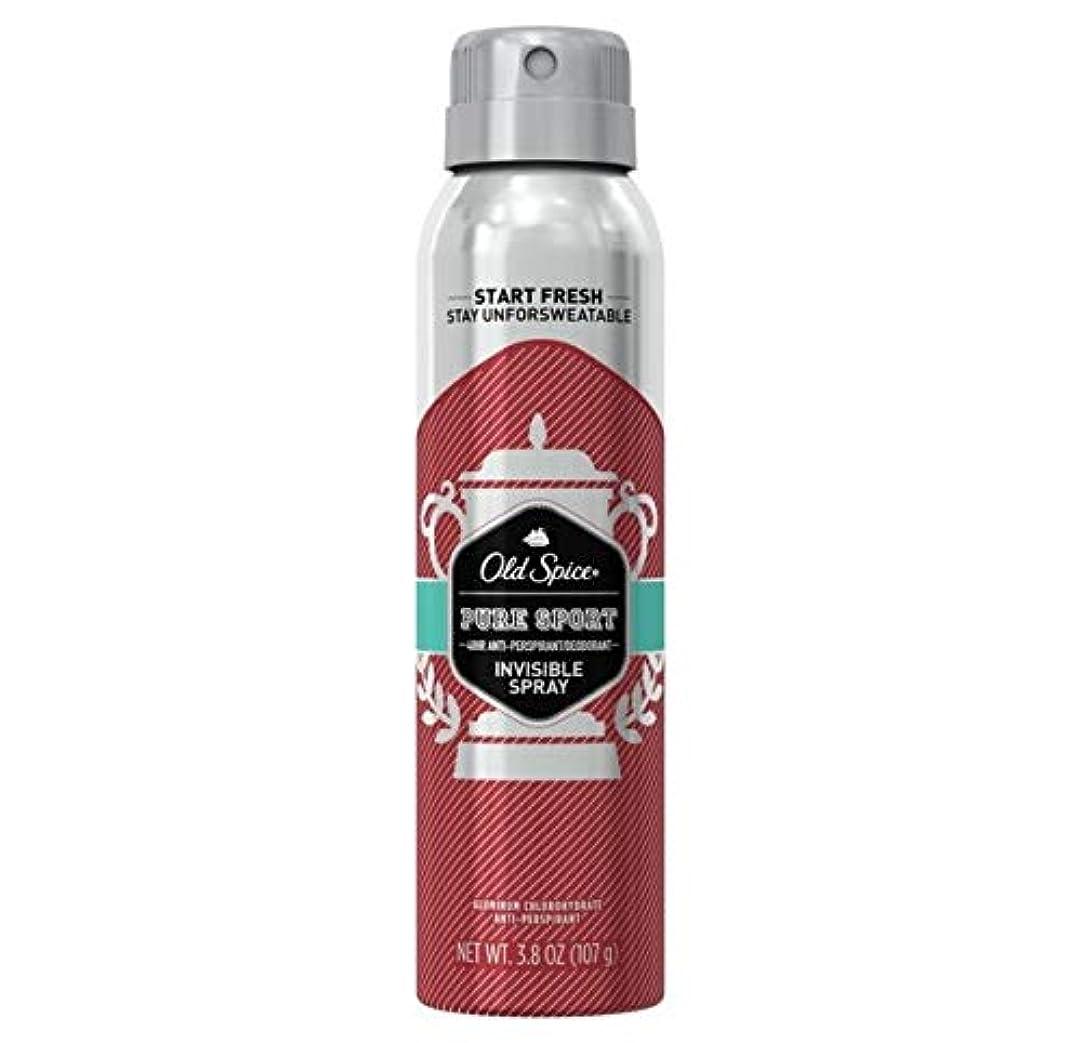 独立テーブル特派員Old Spice Pure Sport Invisible Spray Antiperspirant and Deodorant - 3.8oz オールドスパイス インビジブルスプレー ピュアスポーツ 107g [並行輸入品]