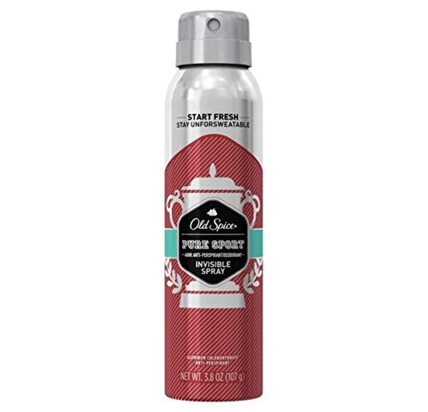 人事位置する南方のOld Spice Pure Sport Invisible Spray Antiperspirant and Deodorant - 3.8oz オールドスパイス インビジブルスプレー ピュアスポーツ 107g [並行輸入品]