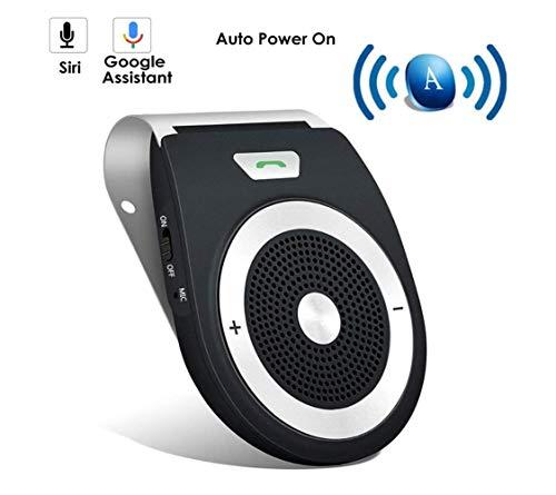 Kabellos Bluetooth Autolautsprecher Phone Auto Kit Fuer die Sonnenblende, Hände Frei Fuer 2 Telefone gleichzeitig, Unterstuetzt GPS, Musik, Handsfree Smartphone iPhones