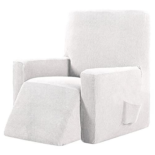 Recliner stol täcker tvättbar stretch sofflock med ficka utan slip möbler skyddare solid färg fåtölj,1