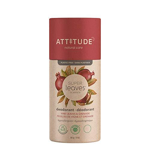 ATTITUDE Super Leaves Natürliches Deodorant mit Rotweinblättern (1 x 85g)