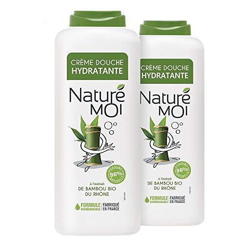 Naturé Moi – Crème Douche à L'Extrait de Bambou Bio du Rhône – Hydrate et Nourrit Les Peaux Normales à Sèches – Lot de 2 – 400Ml