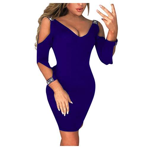 YONSIN Damen Abendkleid Damen Hoch Taille Etuikleid LaternenhüLse Bleistiftrock Vintage Etuikleid Elegant Abendkleid Damen Faschings Party Slim Damen Abendkleid Elegant Sexy Slim