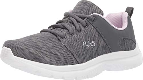 "Ryka Women's""Wren"" Lace Up Athletic Sneaker-Iron Grey/Rose-8 B/M US"