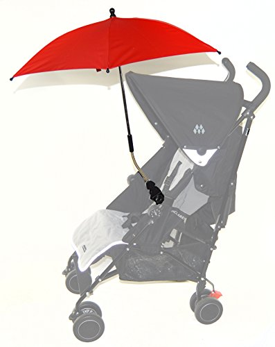 Bebé Sombrilla Compatible con Hauck Shopper Freerider Duett rojo