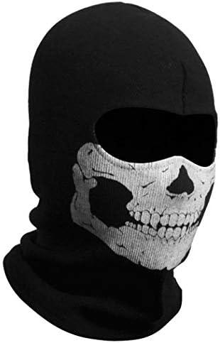 Aikuer Black Balaclava Ghosts Skull Full Face Mask Windproof Ski Mask Motorcycle Face Masks product image